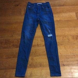 Levi's mile high super skinny jeans 26